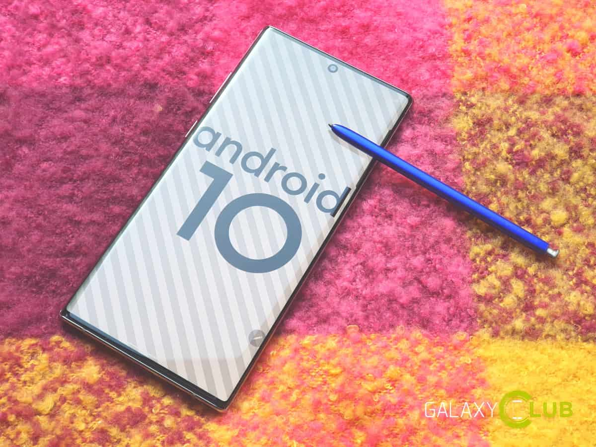 samsung galaxy android 10 update april 2020