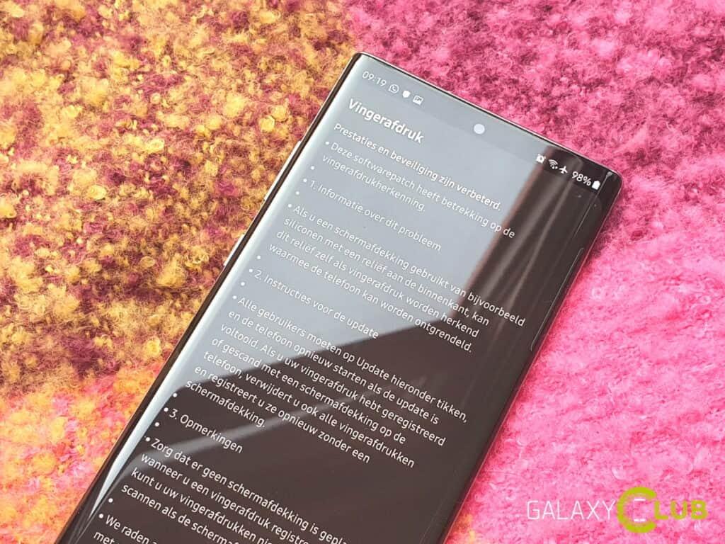 samsung galaxy s10 en note 10: fix vingerscanner beschikbaar in nederland
