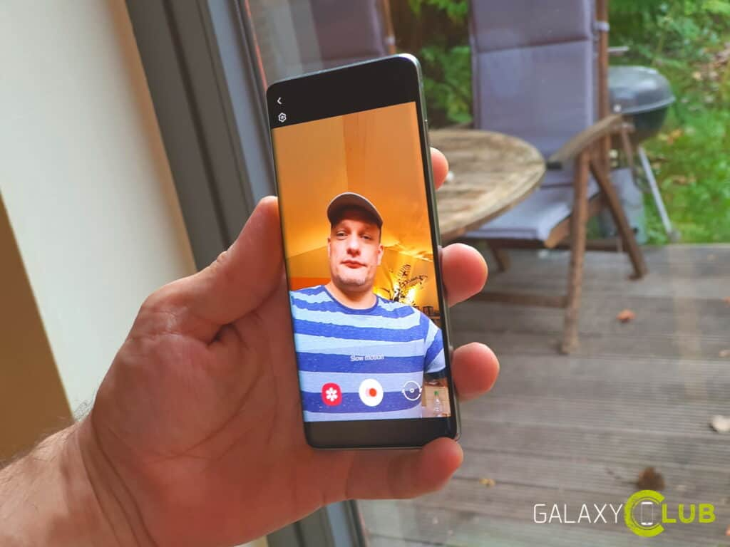 samsung galaxy s10 slofies maken in android 10