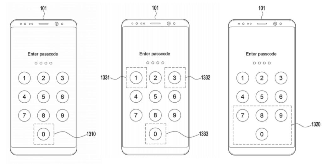 samsung patent vingerafdruk pincode combineren