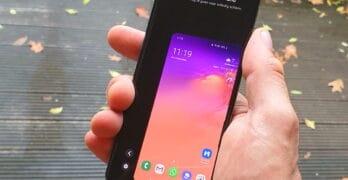 galaxy s10 met android 10: eenhandige bediening