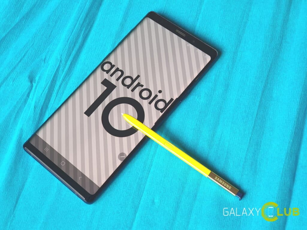 samsung galaxy note 9 update april 2020