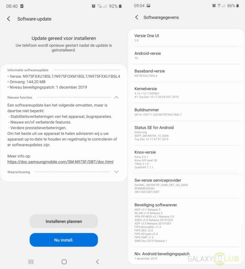 galaxy note 10 android 10 officieel n975fxxu1bsl7