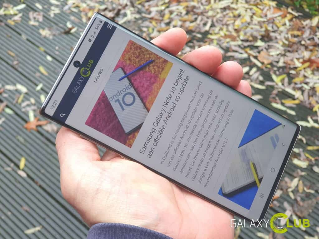 samsung galaxy note 10 review dunne bezels