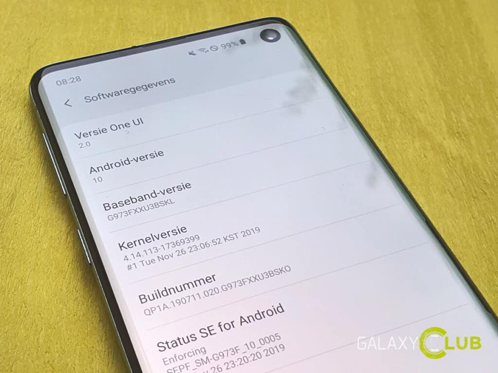 samsung galaxy s10 android 10 update in nederland