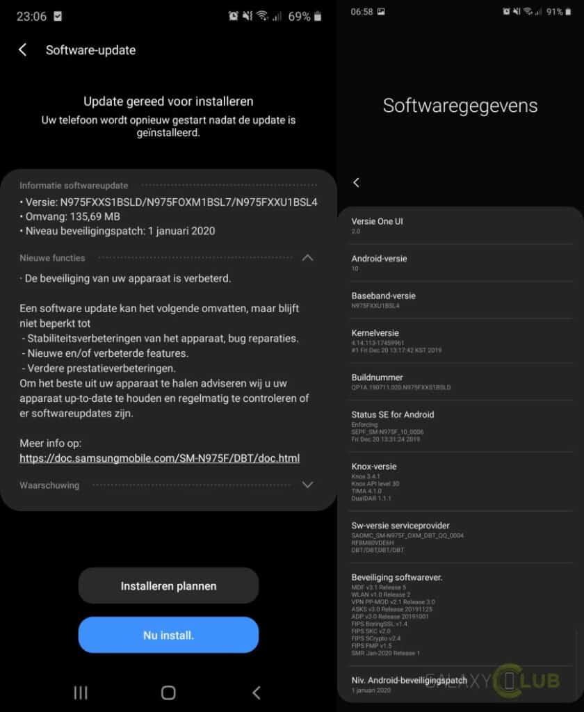 galaxy note 10 update januari 2020 changelist n975fxxs1bsld
