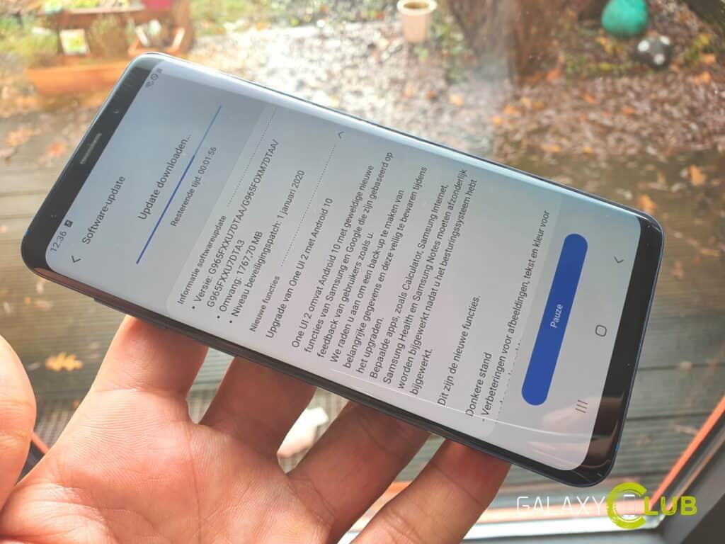 samsung galaxy s9 android 10 update nederland