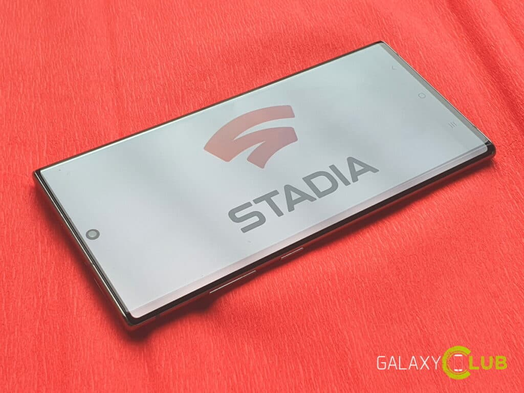 samsung galaxy s20 s10 s9 note google stadia live