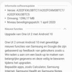 galaxy a20e update android 10 nederland 1