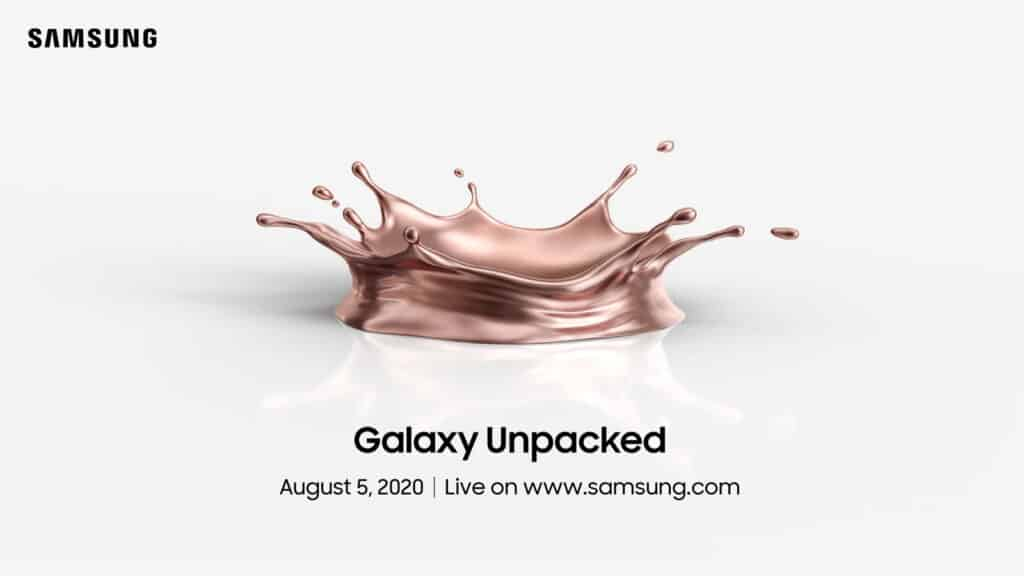 samsung unpacked 5 augustus galaxy note 20