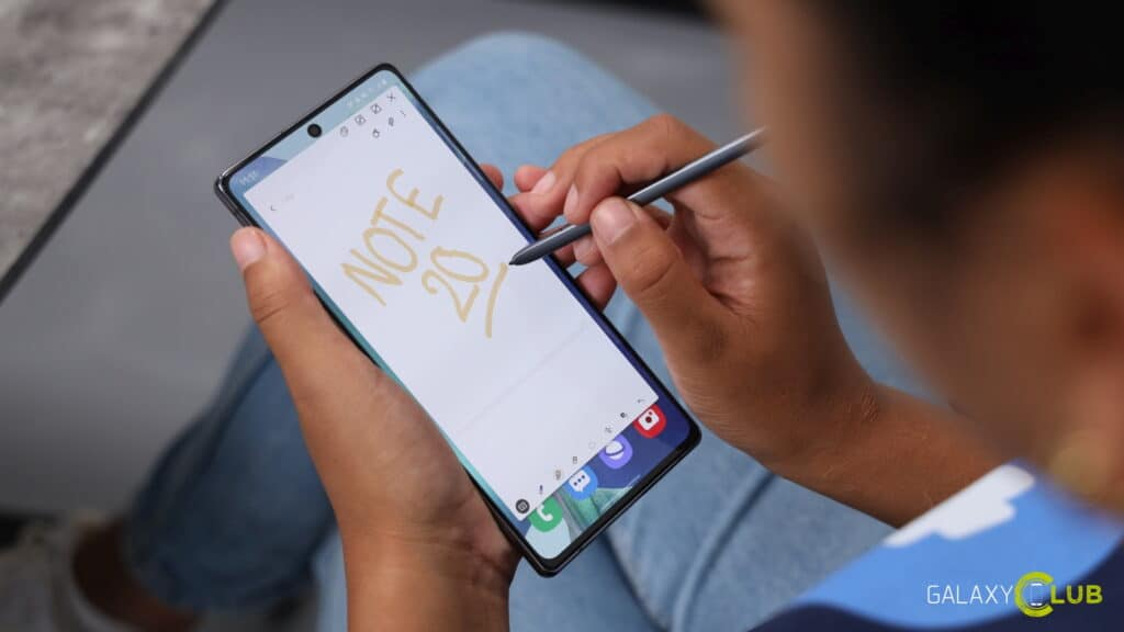 samsung galaxy note 20 (ultra) hands on preview s pen