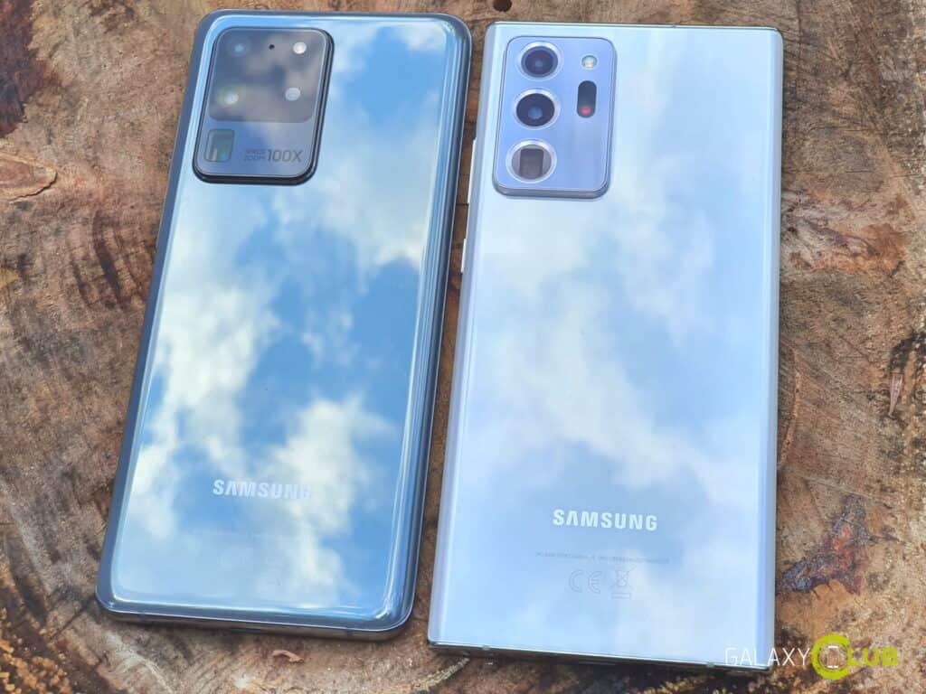 galaxy note 20 ultra versus s20 ultra design