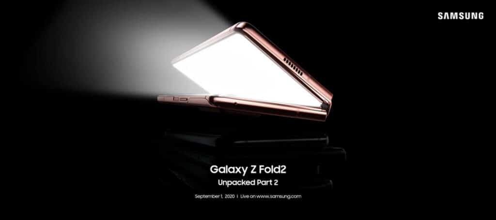 samsung galaxy z fold 2 unpacked lancering