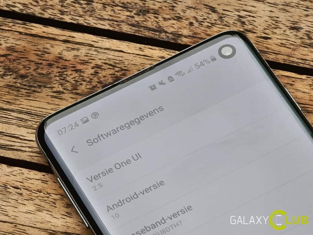 samsung galaxy s10 update one ui 2.5 en september 2020