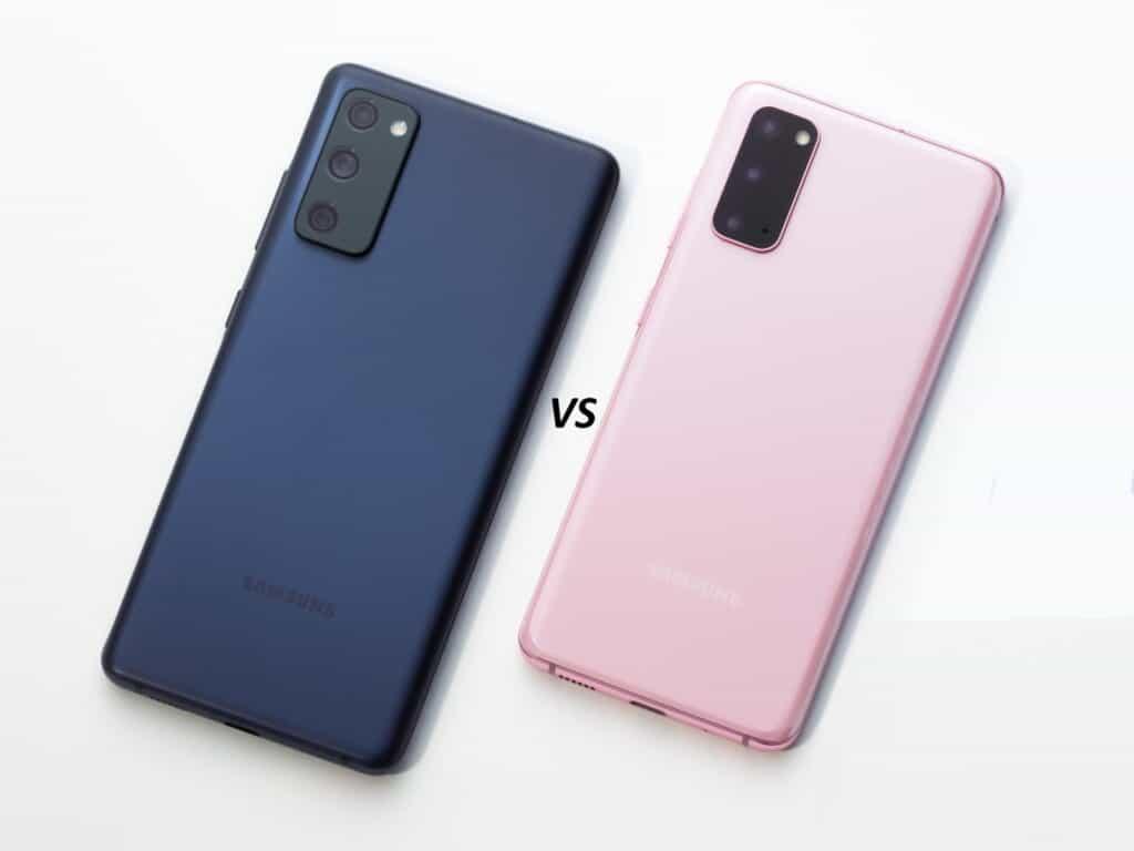 Vergelijking tussen de Samsung Galaxy S20 FE en de S20