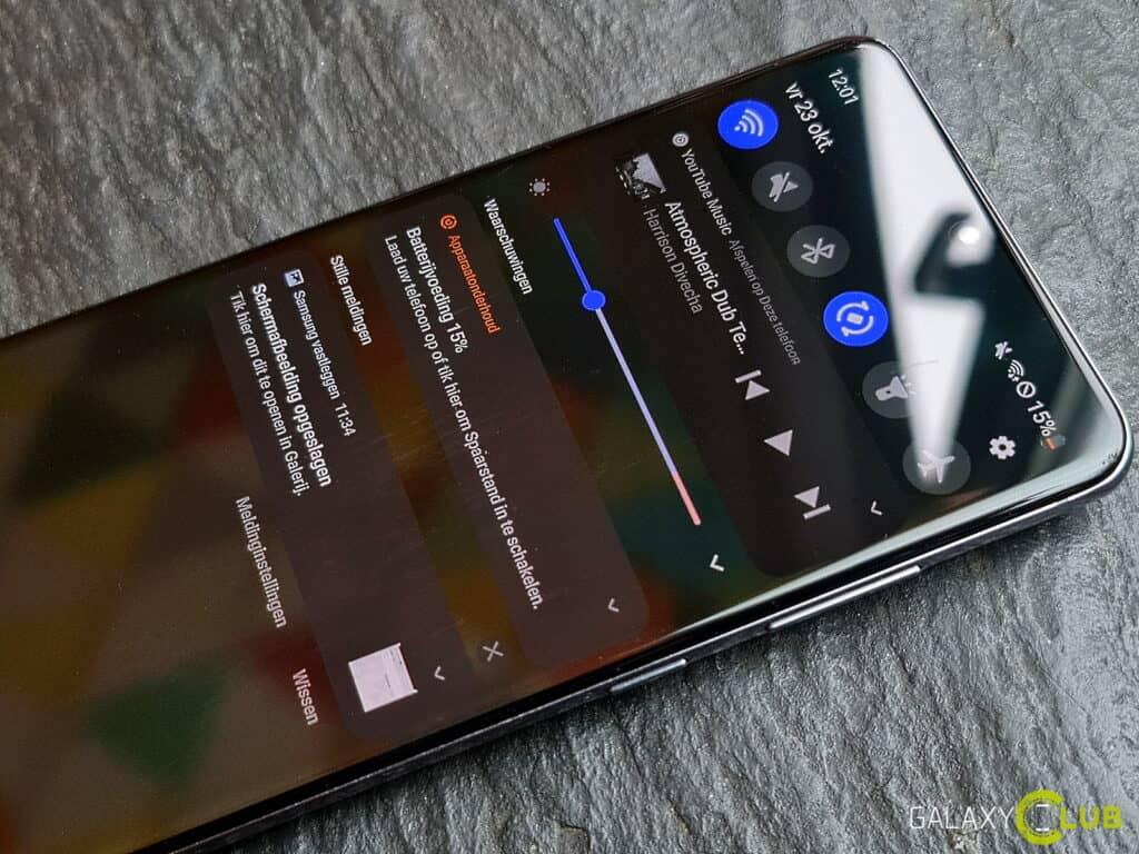 samsung galaxy met android 11 onder de loep: meldingenvenster