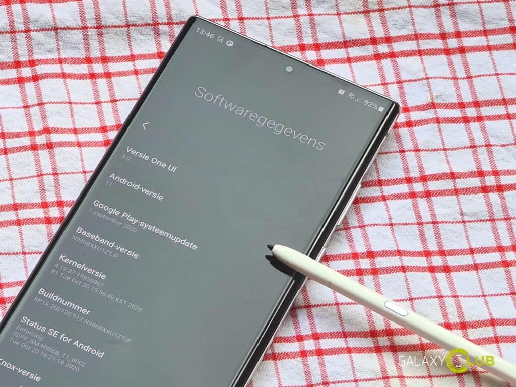 samsung android 11 schema nederland