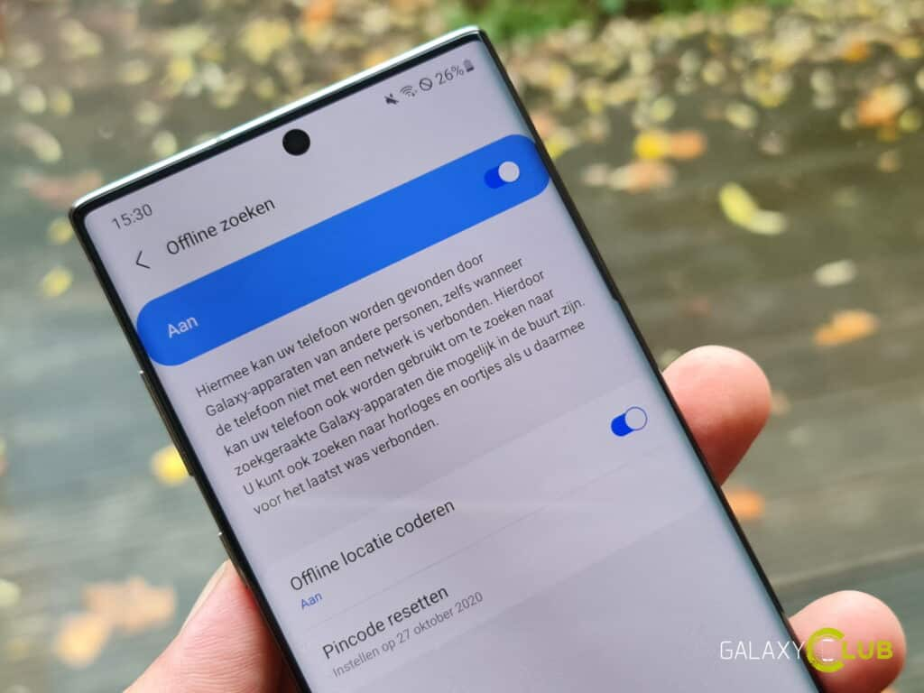 Offline zoeken op Samsung telefoons