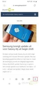Samsung Internet 13 statusbalk verbergen