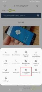 Samsung Internet 13 Translator uitbreiding