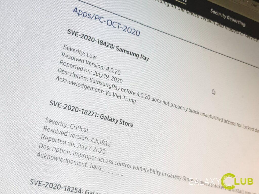 Samsung app updates: beveiling van diensten en applicaties