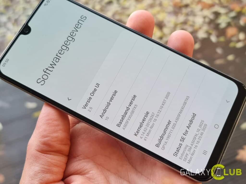 Samsung Galaxy A50 update One UI 2.5