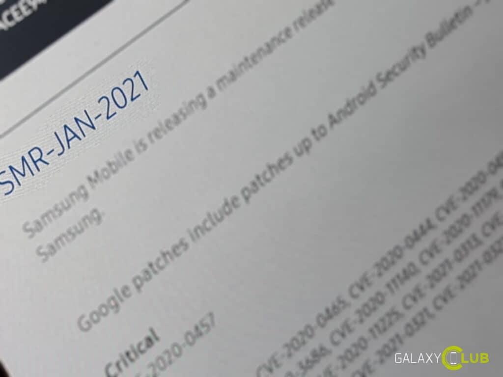 Samsung update januari 2021
