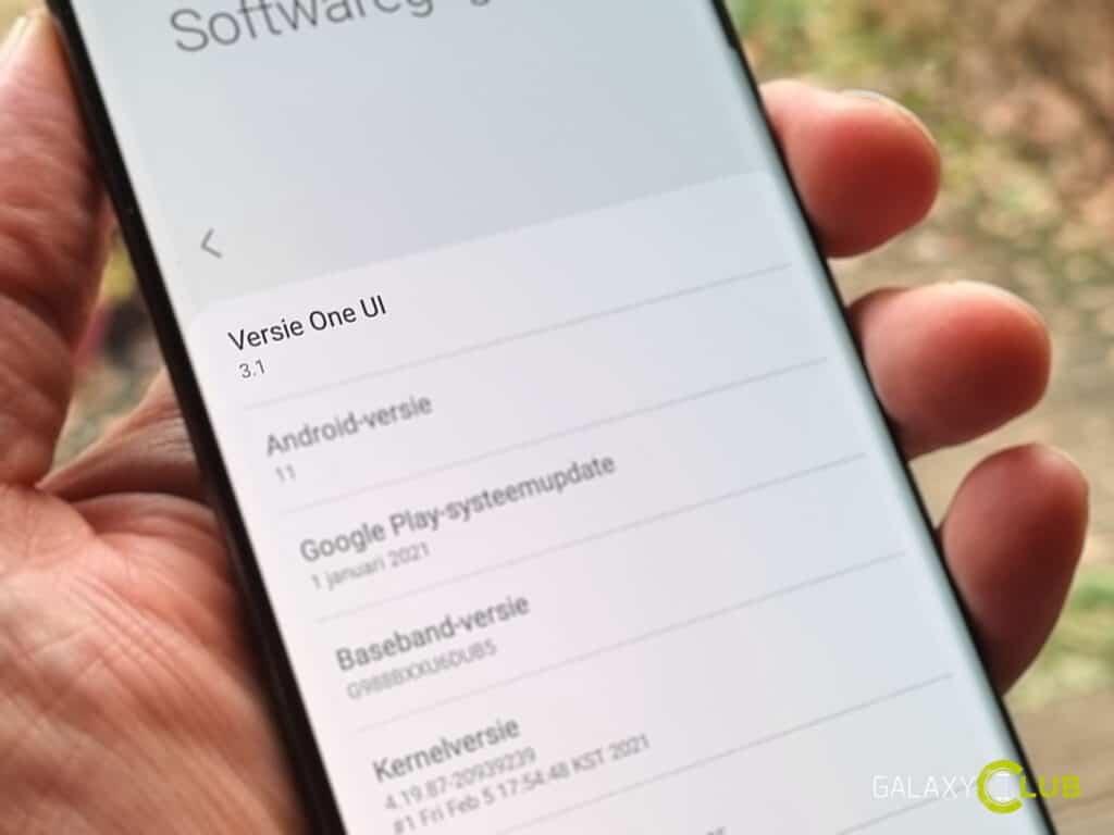 Deze Samsung Galaxy telefoons krijgen de One UI 3.1 update