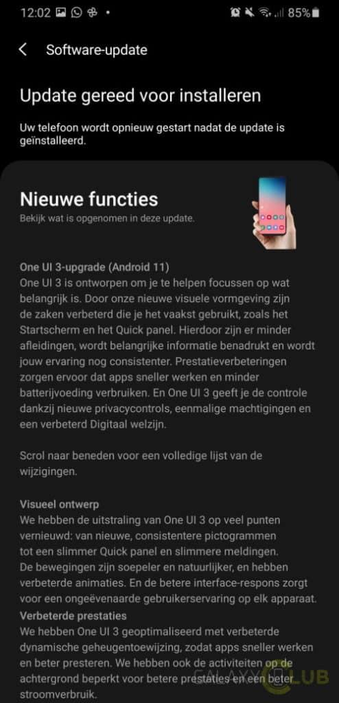 samsung galaxy m21 en m31 android 11 update in nederland changelog 1