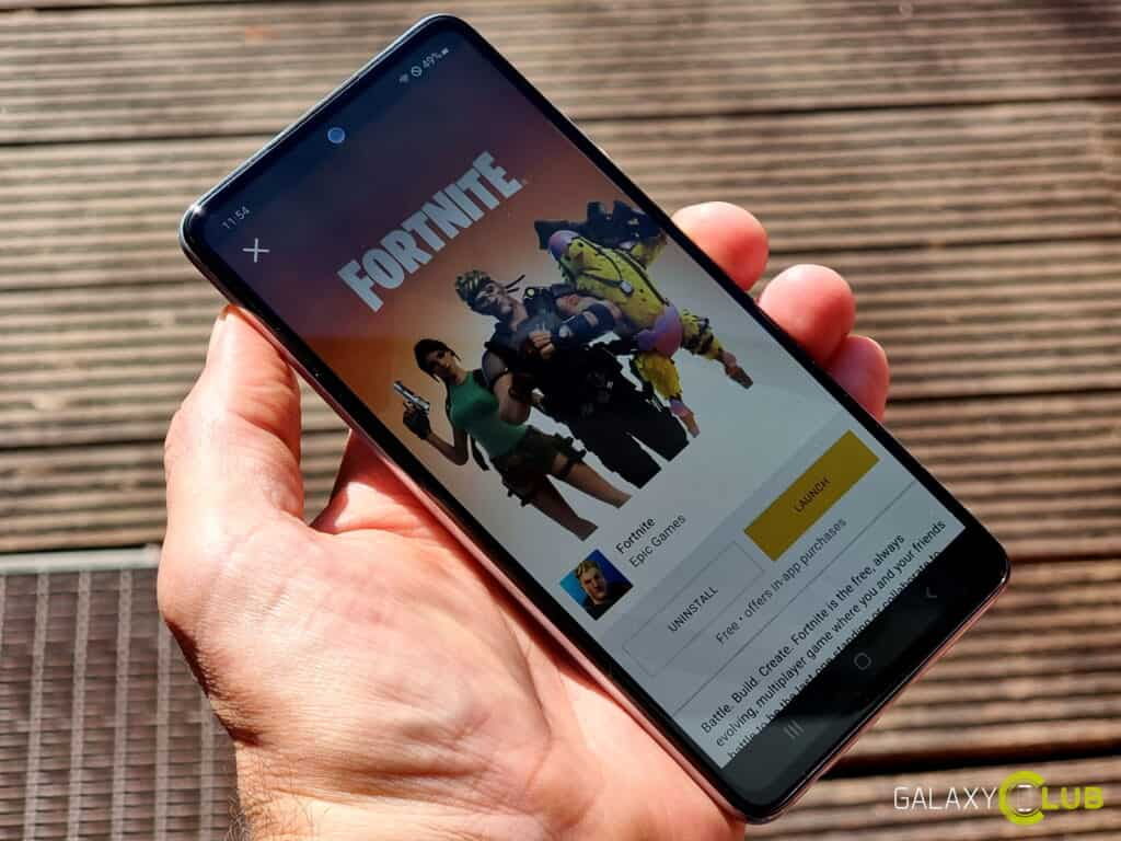 Samsung Galaxy A52 and A72: can you ever play Fortnite?