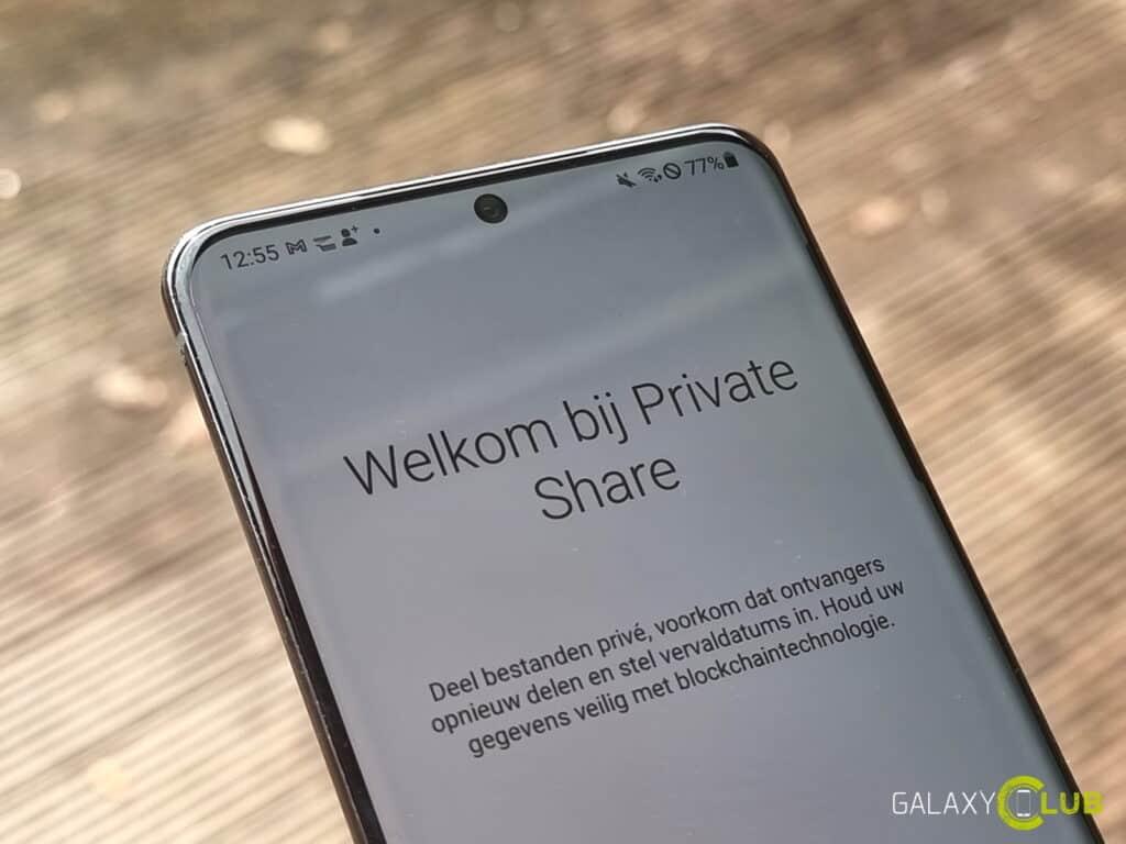 Samsung Galaxy Private Share functie werkt nu in Nederland
