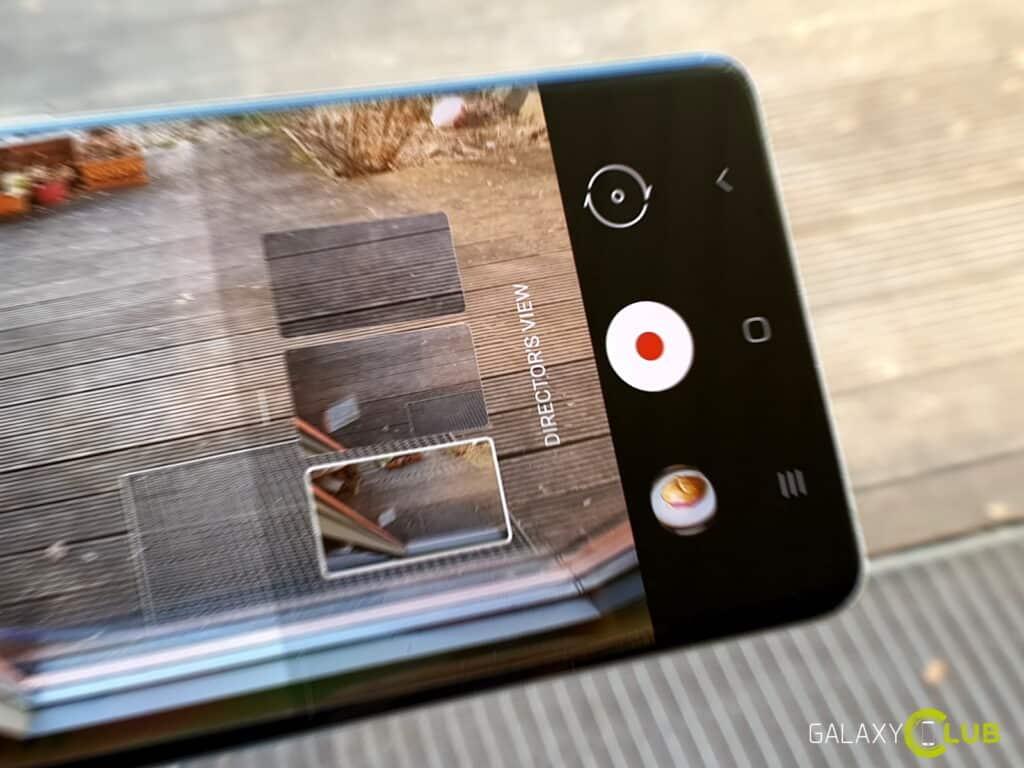 Director's View op de Samsung Galaxy S21