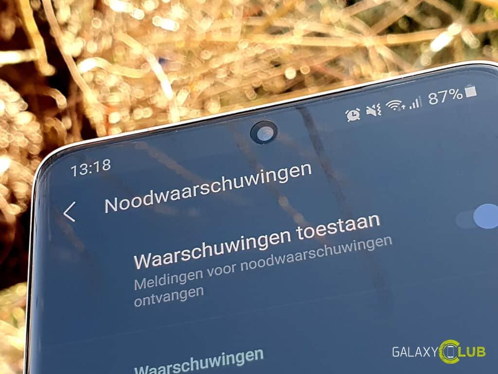 Samsung telefoon: NL-Alert instellen, testen, checken