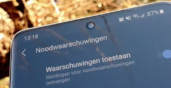 Samsung telefoon met Android 11: NL-Alert instellen