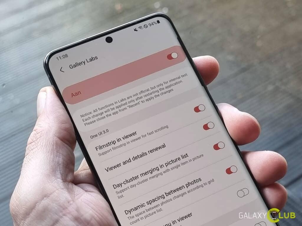 Samsung Galaxy tip: geheim Gallery Labs menu activeren