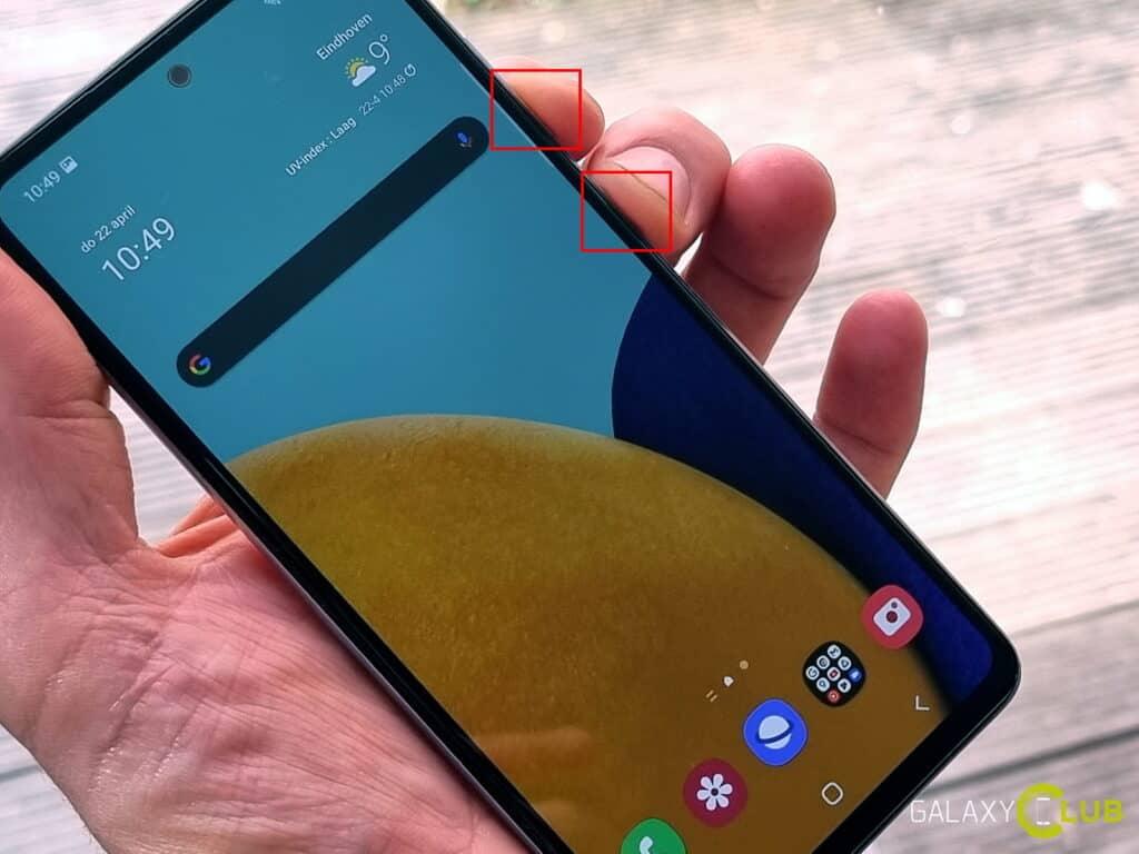 Samsung Galaxy A52 screenshot maken (schermafbeelding)