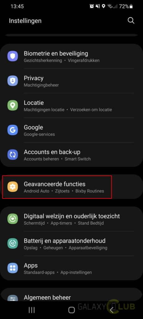 Samsung Galaxy functie zijtoets wijzigen: geavanceerde functies