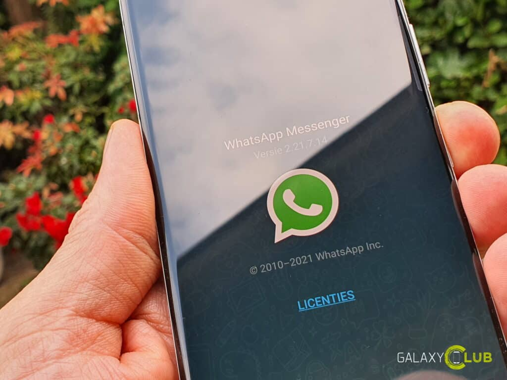 Samsung Galaxy and WhatsApp Web: Telefoon not connected