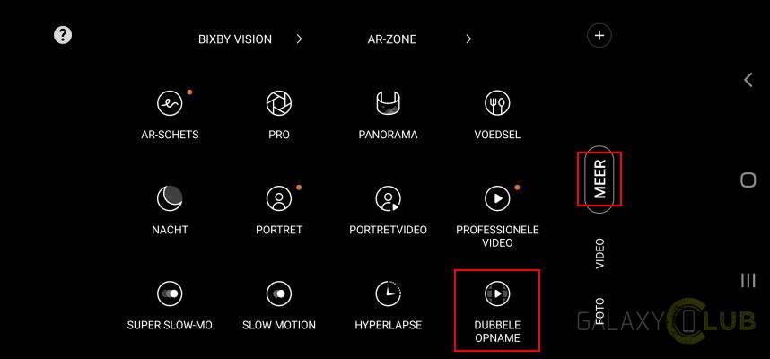 Samsung Dubbele Opname Galaxy S20