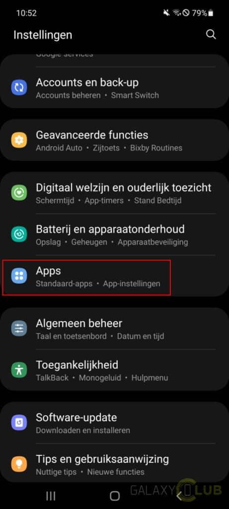 samsung telefoon google app crasht: oplossing