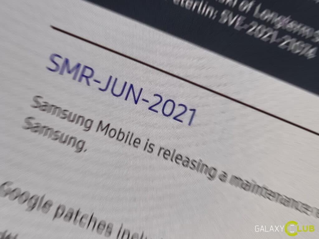 samsung update juni 2021