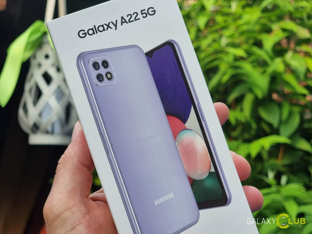 Kotak Samsung Galaxy A22