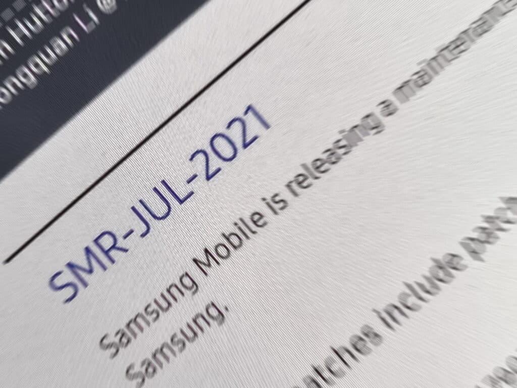 Samsung update juli 2021
