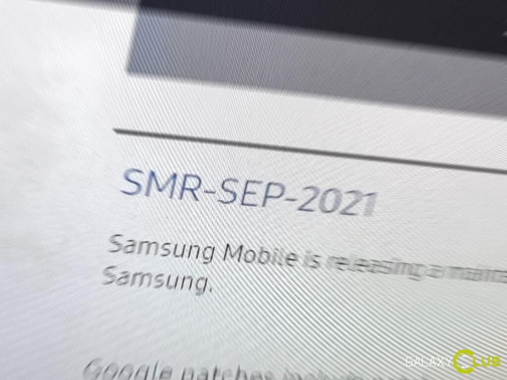 Samsung update september 2021
