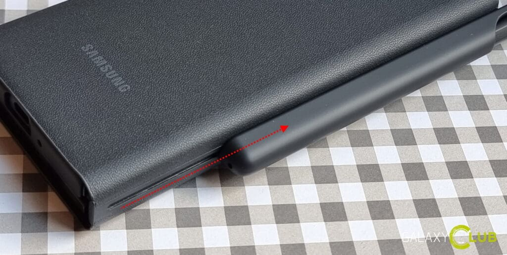 Z Fold 3 S Pen cover tip: houder verwijderen