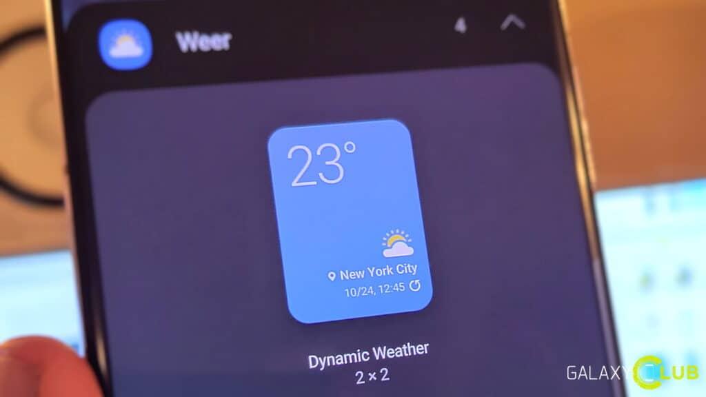 Samsung Galaxy en Android 12: dynamische en geanimeerde weer widgets