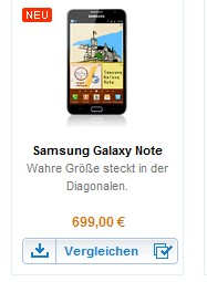 galaxy-note-samsung-de Duitse adviesprijs Galaxy Note bekend