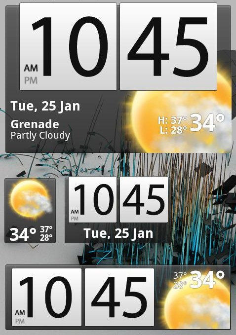 galaxys2bw1 App tip: Beautiful Widgets Lite