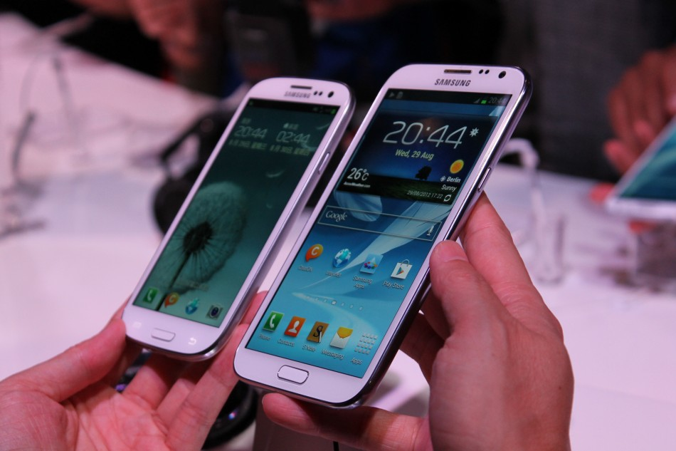 Samsung galaxy note 2 versus galaxy s3