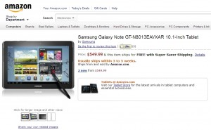 samsung-galaxy-note-101-amazon-300x185 Samsung Galaxy Note 10.1 komt over een maand (in de VS)